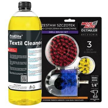 Zestaw do prania tapicerki Textil Cleaner + 3 szczotki