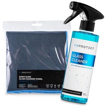 FX PROTECT Zestaw do mycia szyb Glass Cleaner + Shiny Glide