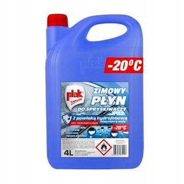 Zimowy płyn do spryskiwaczy PLAK HYDROFOBOWY 4L